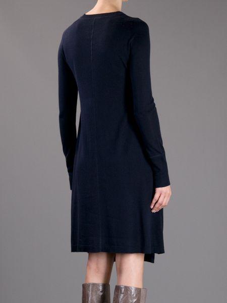 j brand loose fit sweater dress in black lyst