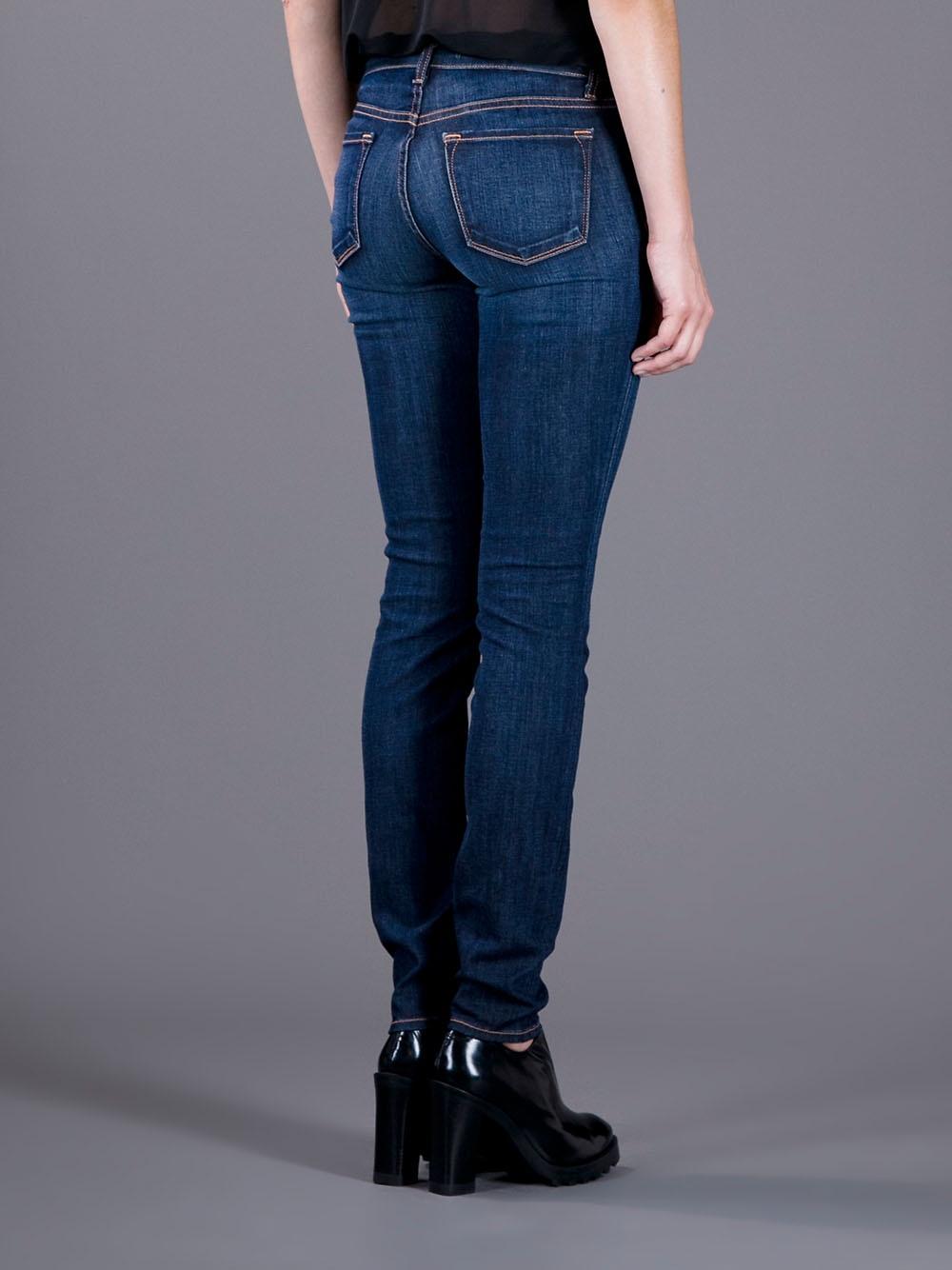 lyst j brand 811 skinny jeans in blue. Black Bedroom Furniture Sets. Home Design Ideas