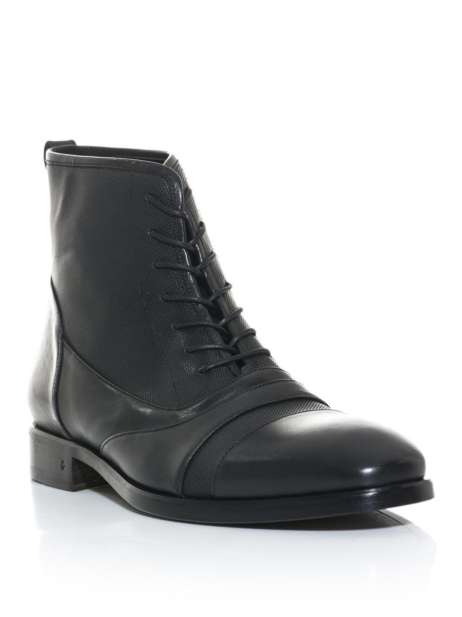 Lyst - John Varvatos Fleetwood Chelsea Boot in Black for Men