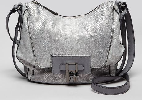 Kooba Shoulder Bag Gabby Slouchy Long in Silver (Grigio Snake)