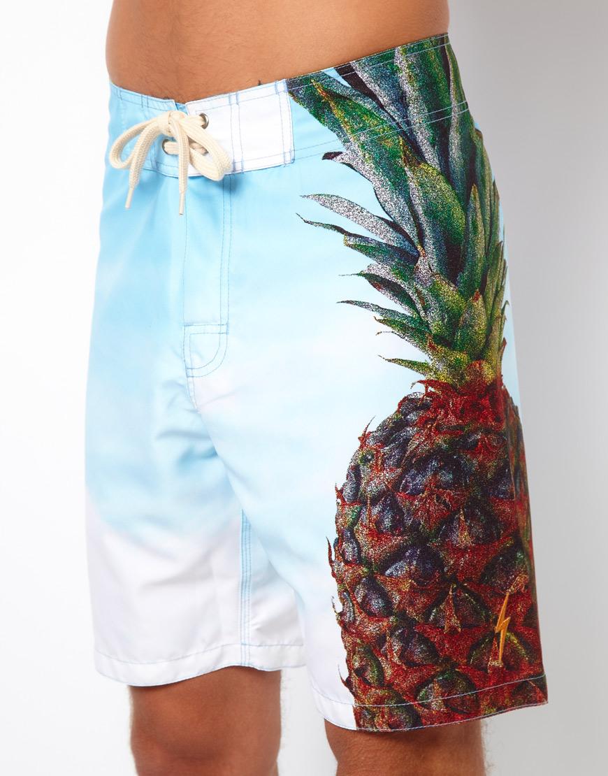 5c17a86c4c Lightning Bolt Pineapple Boardshort 19 in Blue for Men - Lyst