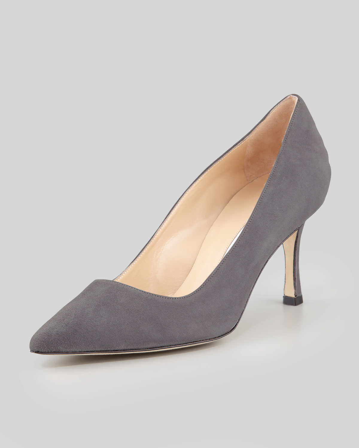 Manolo blahnik bb suede 70mm pump black york store for Scarpe manolo blahnik shop on line