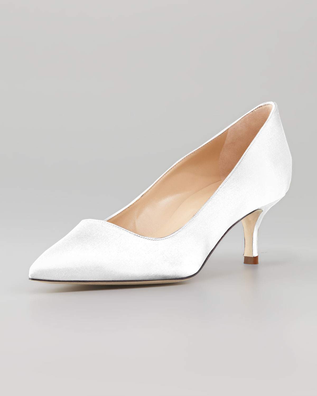 1a59963038e Lyst - Manolo Blahnik Bb Satin 50mm Pump White Made To Order in White