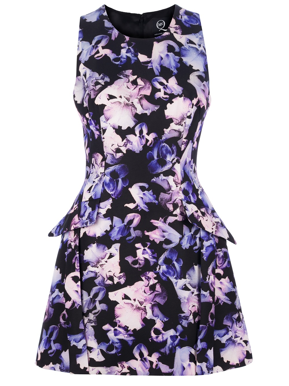 Mcq Floral Peplum Dress Lyst