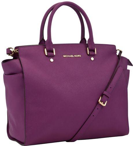 Michael Michael Kors Selma Travel Satchel Handbag in Purple ...