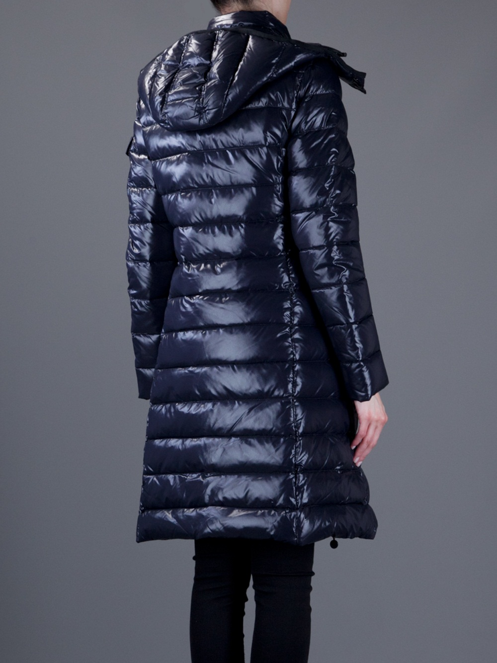 Moncler Suyen Padded Coat In Blue Lyst