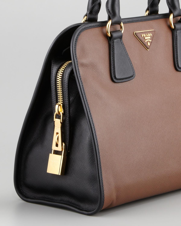 d6cd1d3fdede ... czech lyst prada saffiano soft triplezip satchel bag in brown 8972a  f26a6