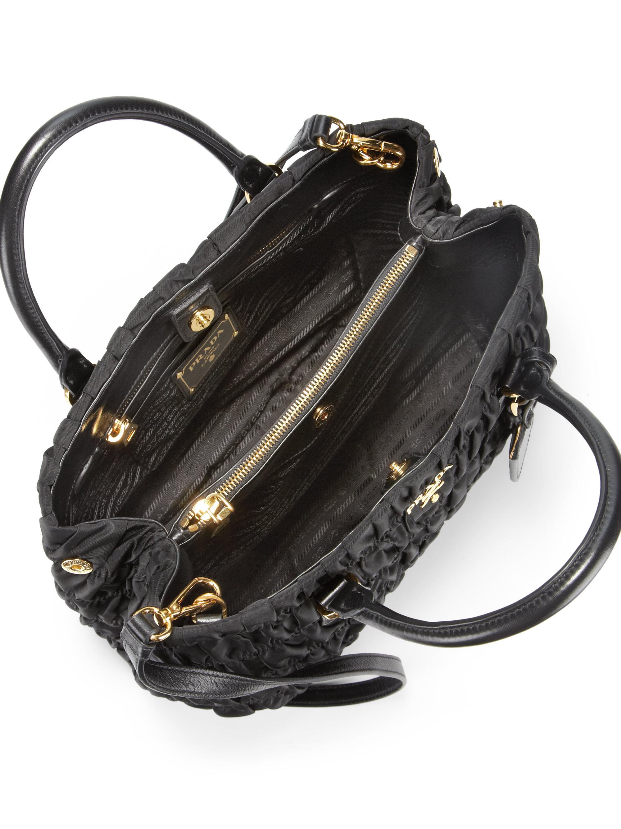 prada small black purse - Prada Tessuto Gaufre Tote in Black (NERO-BLACK)   Lyst