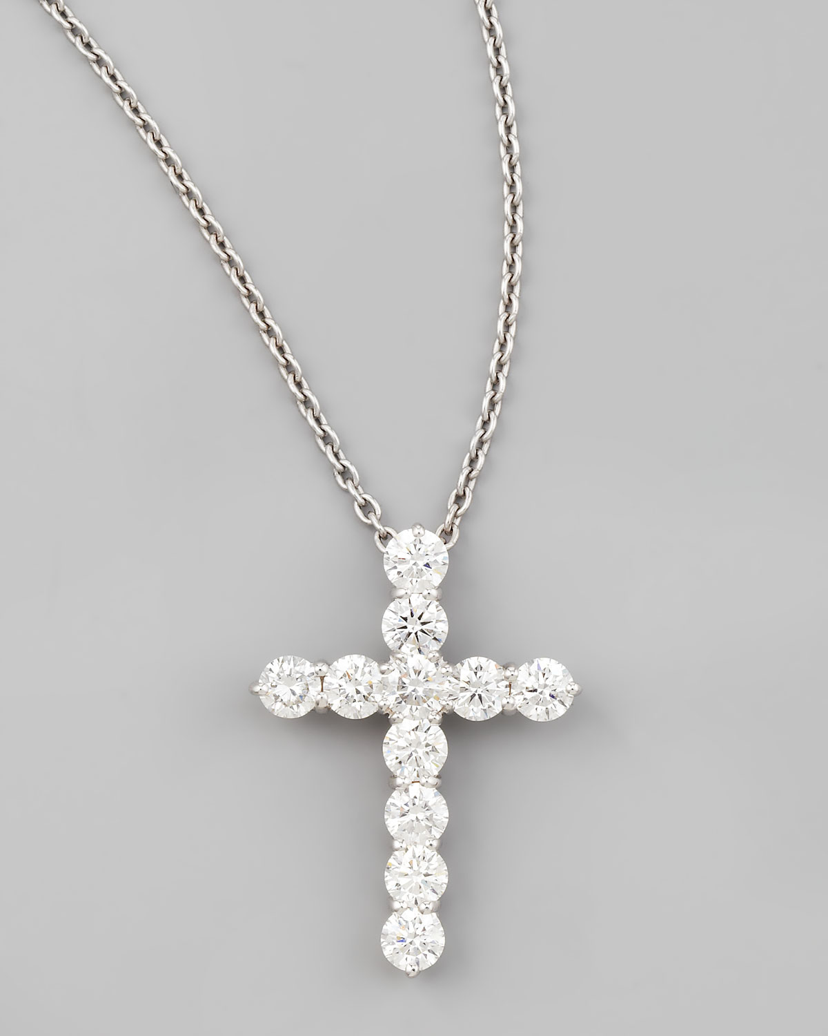 Lyst roberto coin 16 white gold lg diamond cross pendant gallery previously sold at neiman marcus womens diamond cross necklaces aloadofball Choice Image