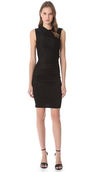 T by alexander wang Pique Sleeveless Dress in Black  Lyst