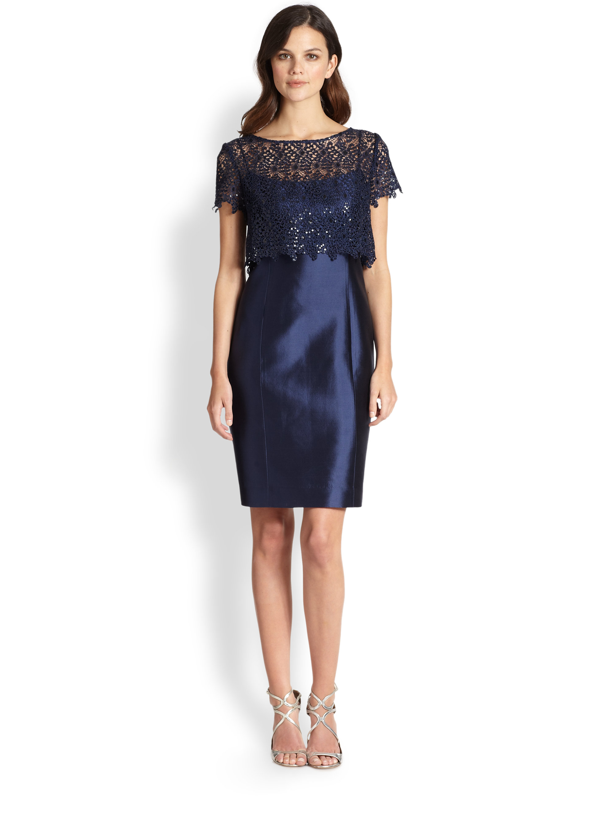 Galerry sheath dress navy