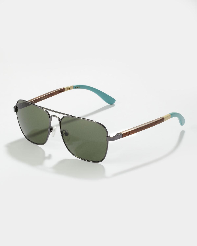 Toms Navigator Sunglasses in Metallic for Men | Lyst