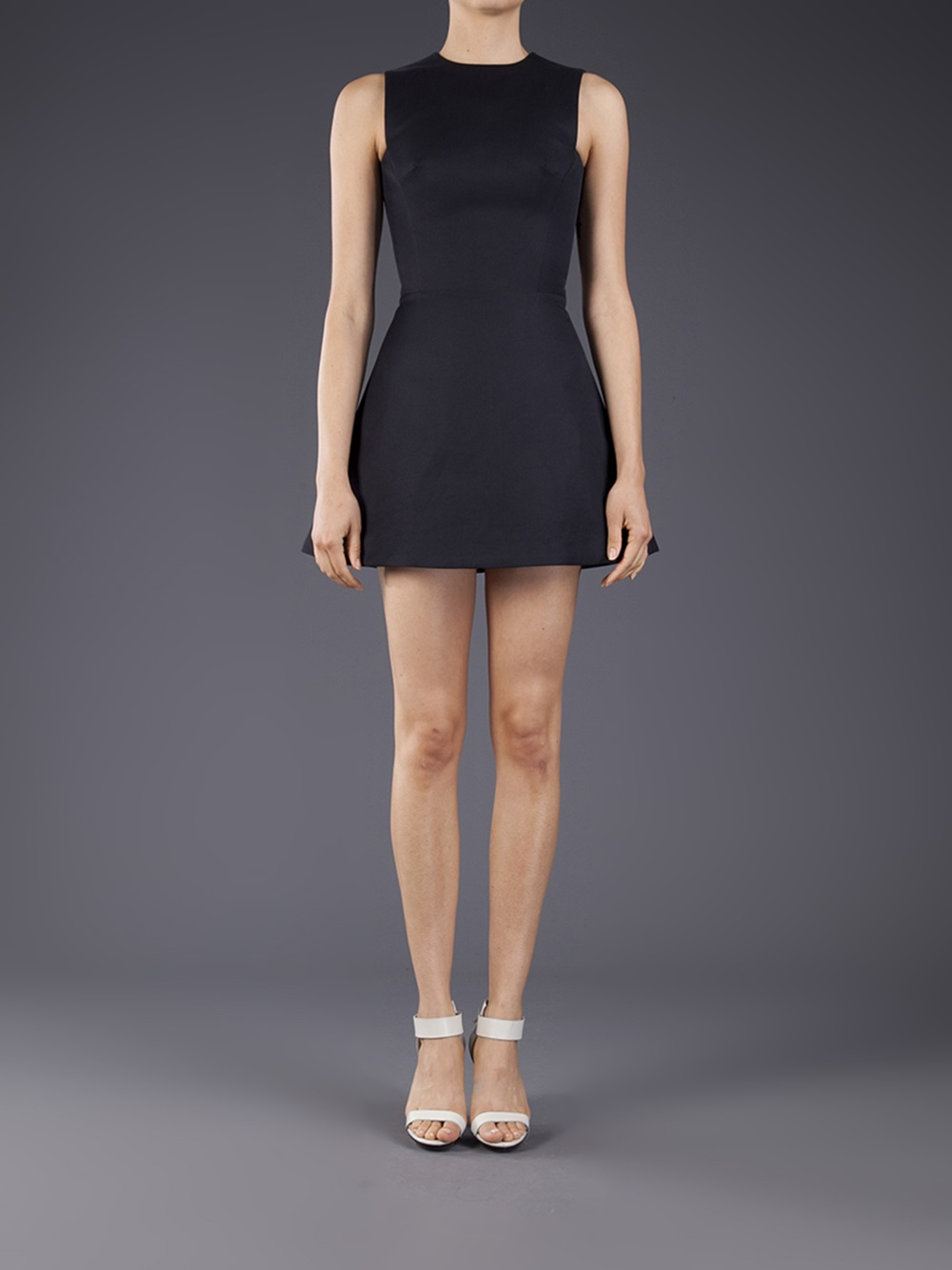 Victoria Beckham Aline Mini Dress In Black Lyst
