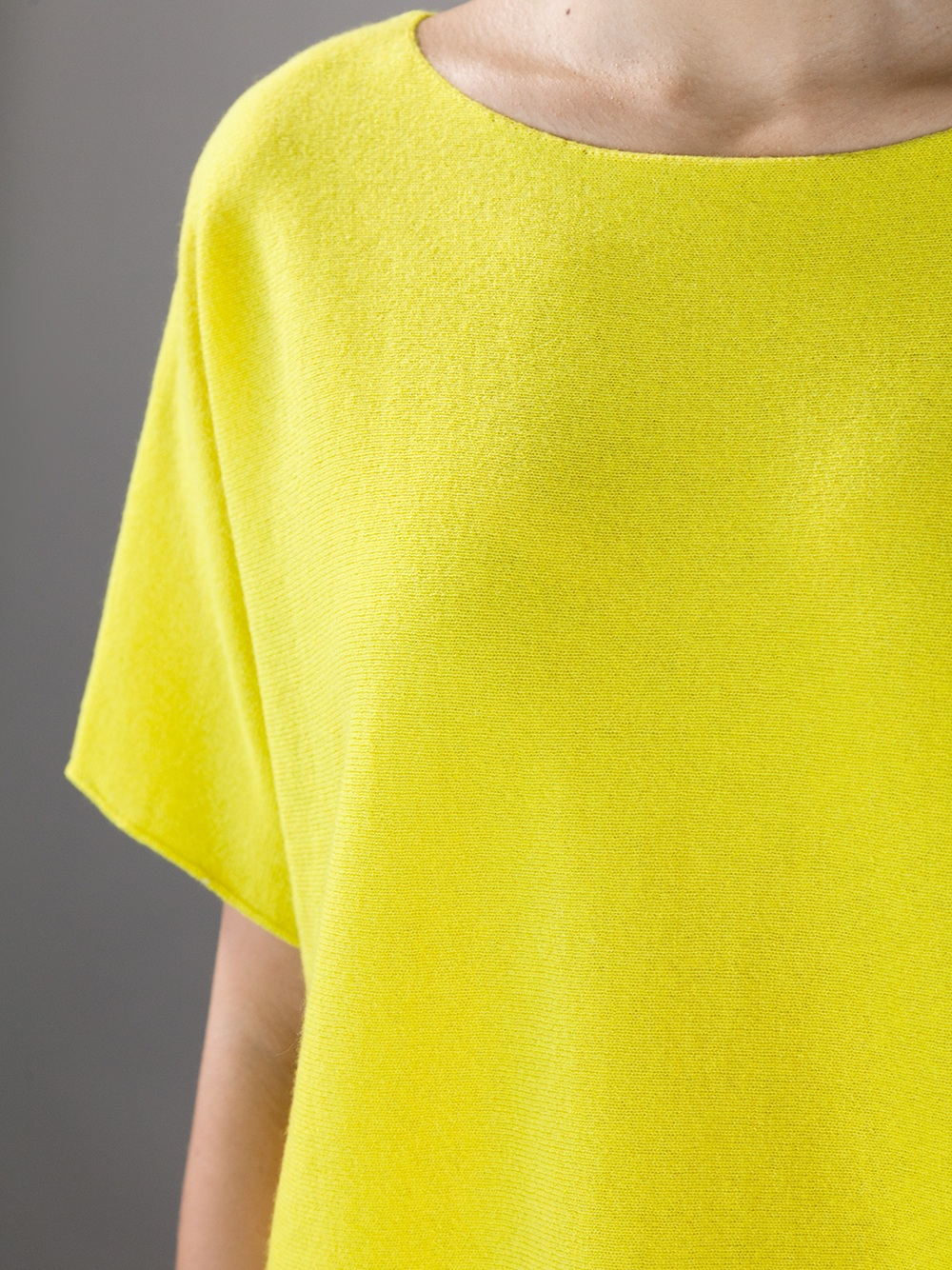 Vince Short Sleeve Sweater in Yellow | Lyst