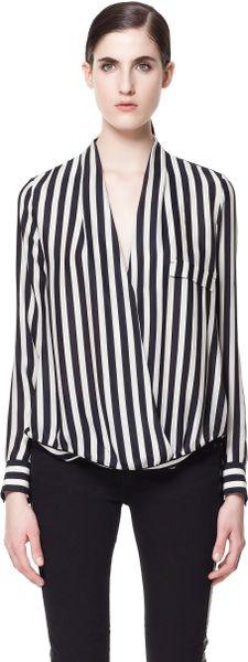 Zara White Wrap Blouse 5