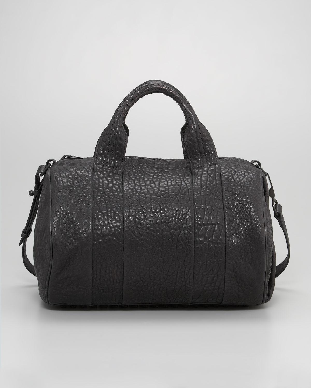 lyst alexander wang rocco stud bottom satchel bag in black. Black Bedroom Furniture Sets. Home Design Ideas