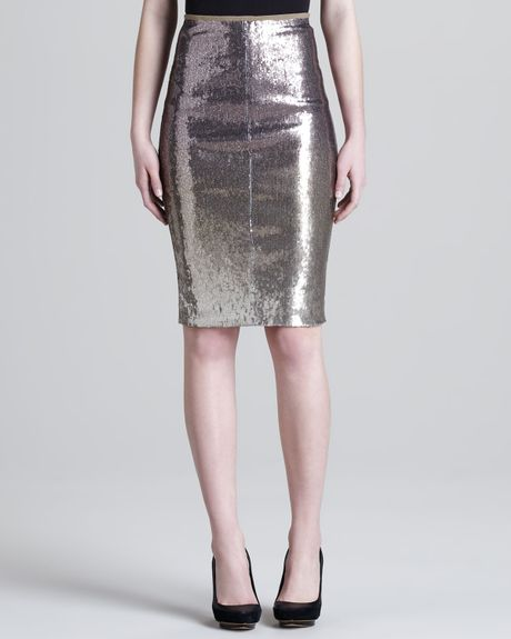 Silver Metallic Skirt 75