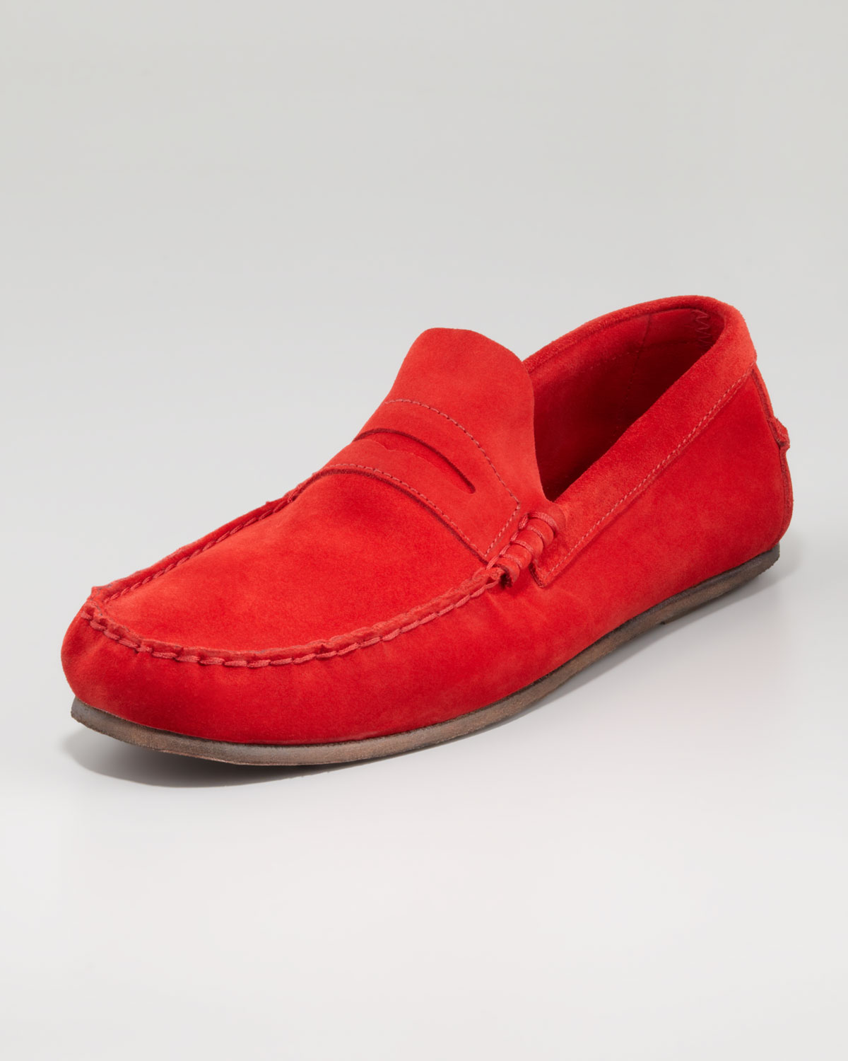 Florsheim By Duckie Brown Suede Penny Loafer Red in Red ...