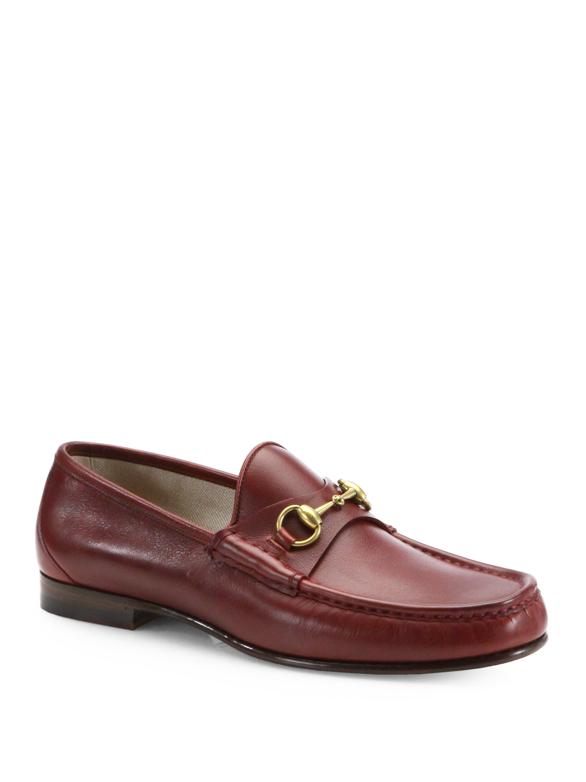 lyst gucci roos 1953 horsebit loafers in brown for men. Black Bedroom Furniture Sets. Home Design Ideas
