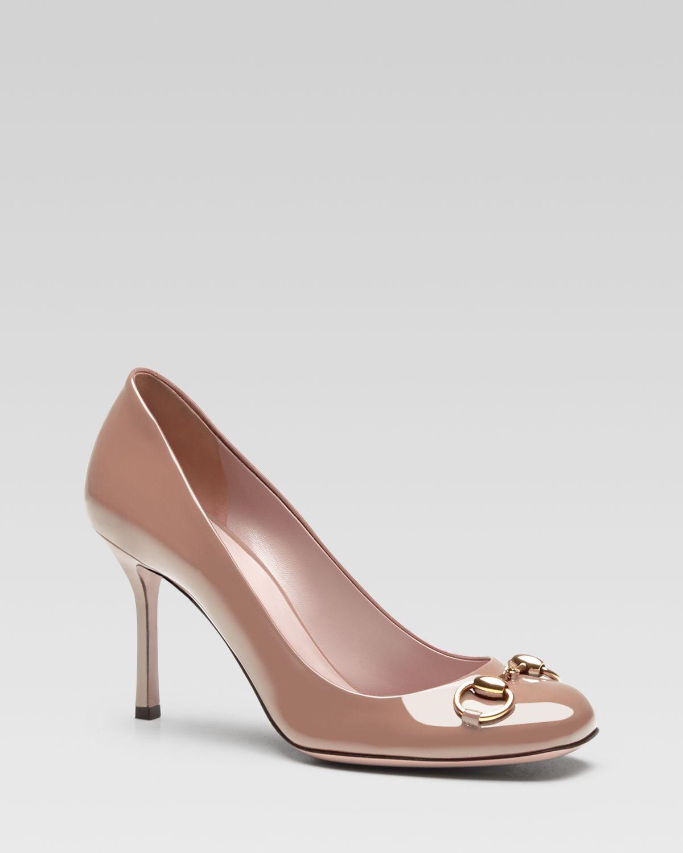 0db37783221 Lyst - Gucci Jolene Mid Heel Pump in Pink
