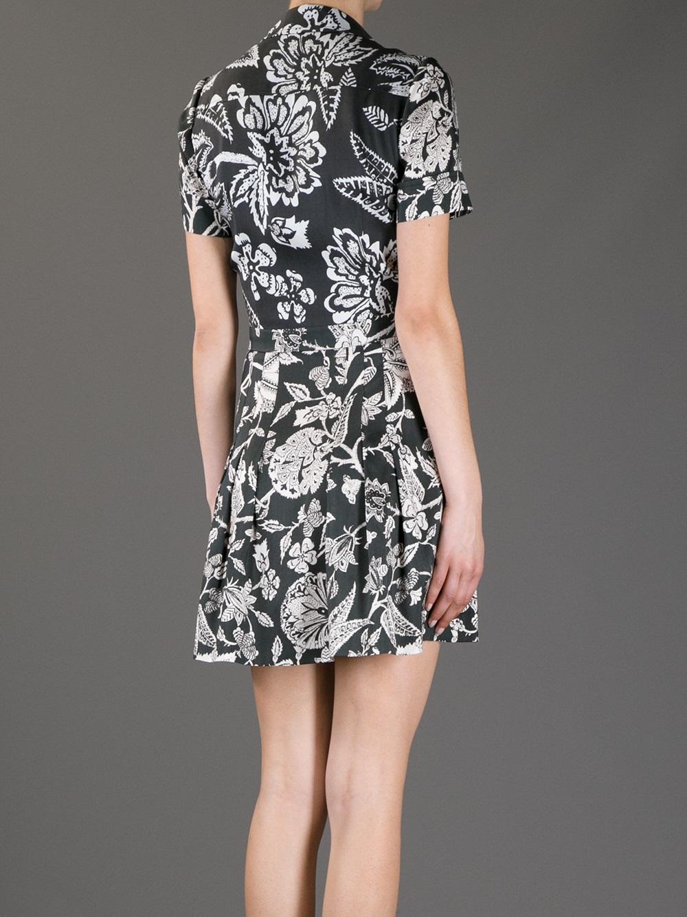 Isabel Marant Hawaiian Poplin Dress In Black Lyst