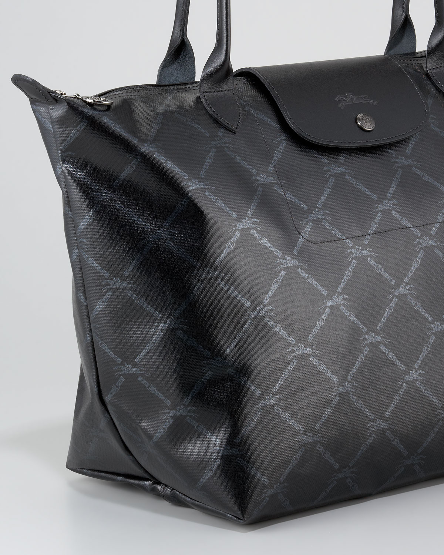 Lyst - Longchamp Lm Metal Large Shoulder Tote Bag in Black dd4241fbdba3b