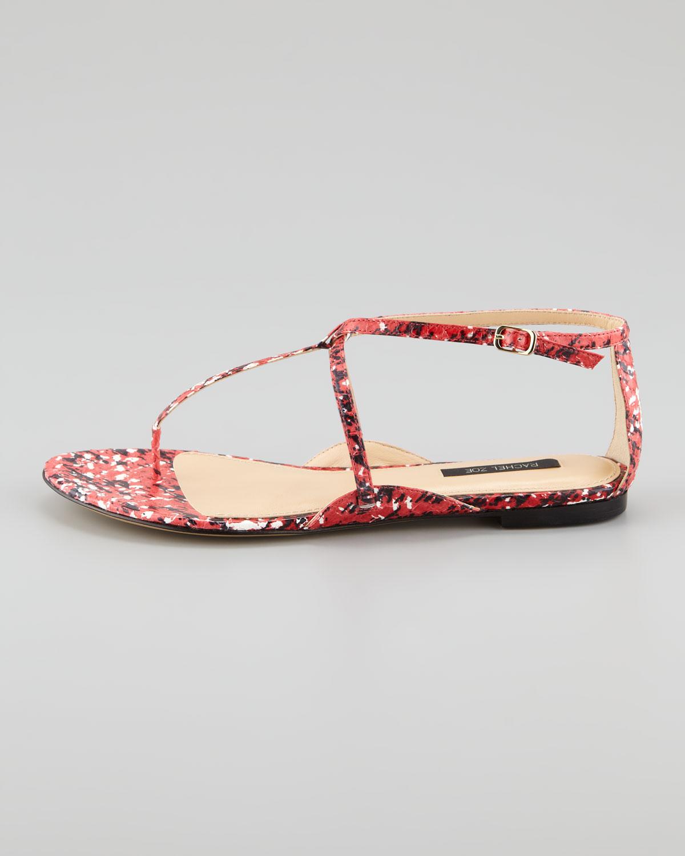 102596a7f Lyst - Rachel Zoe Gwen Snakeskin Flat Sandal in Natural