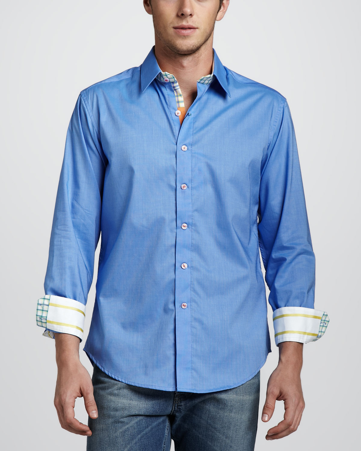 Lyst robert graham x collection bay shore sport shirt for Where are robert graham shirts made