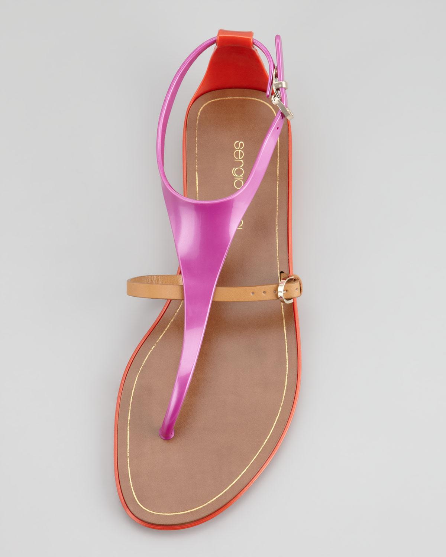 Sergio Rossi Rubber Thong Sandals sale original cheap sale best wholesale buy cheap excellent cheap pictures 5681aT2hTG