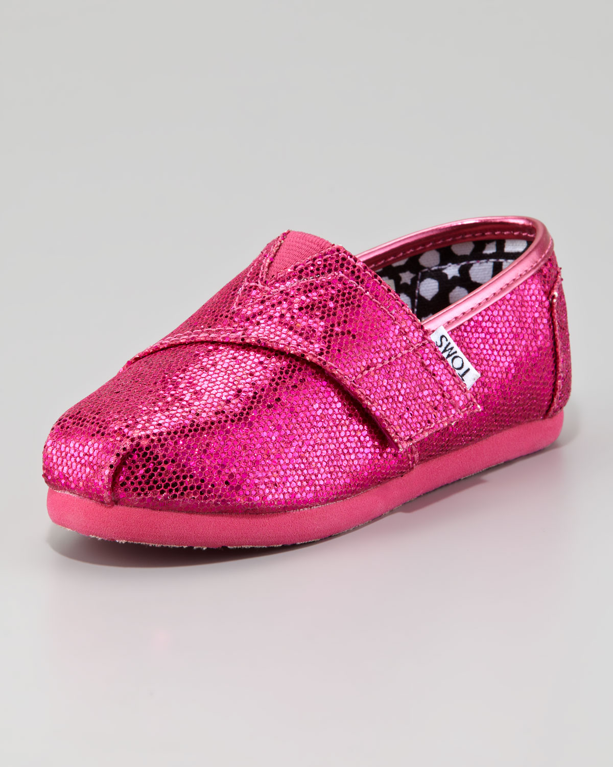 Lyst Toms Hot Pink Glitter Shoe Tiny In Pink