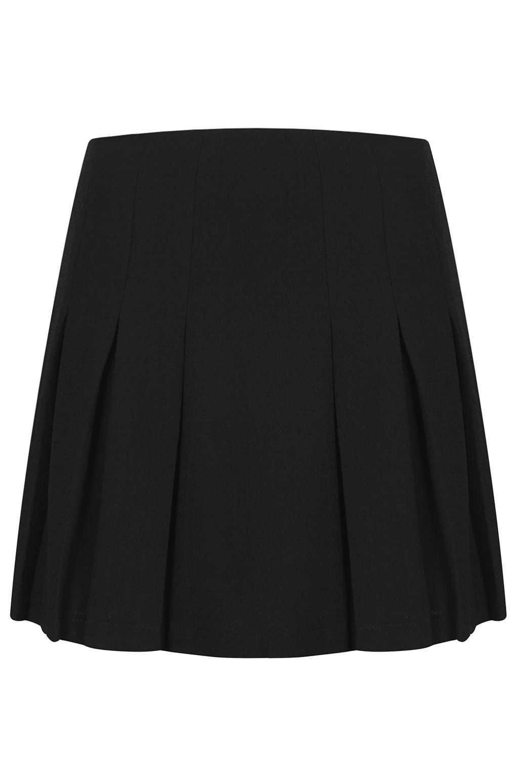 Topshop Black Pleated Mini Skirt in Black | Lyst