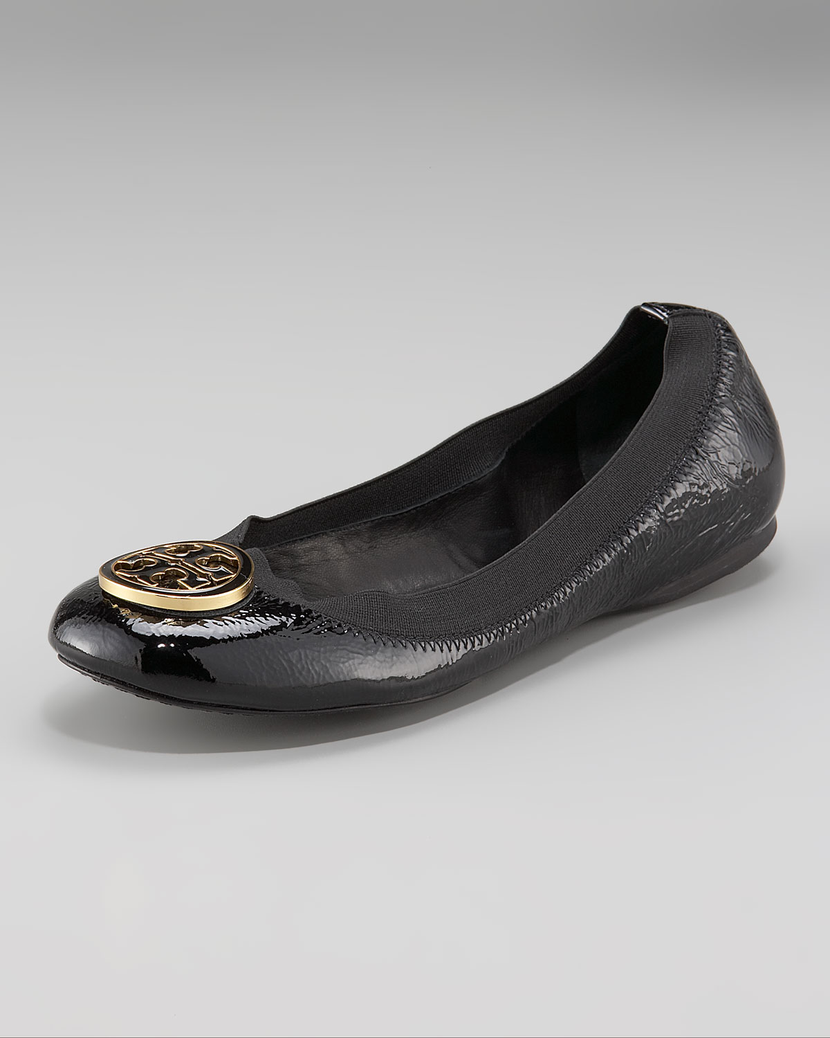 7447291b3d3f Lyst - Tory Burch Caroline Patent-Leather Ballet Flats in Pink