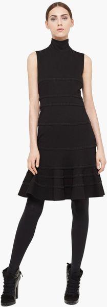Akris Punto Turtleneck Jersey Dress in Black