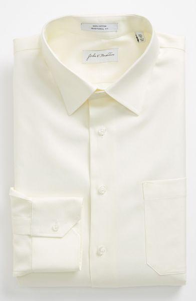 ... Nordstrom® Traditional Fit Dress Shirt in White for Men (Ecru
