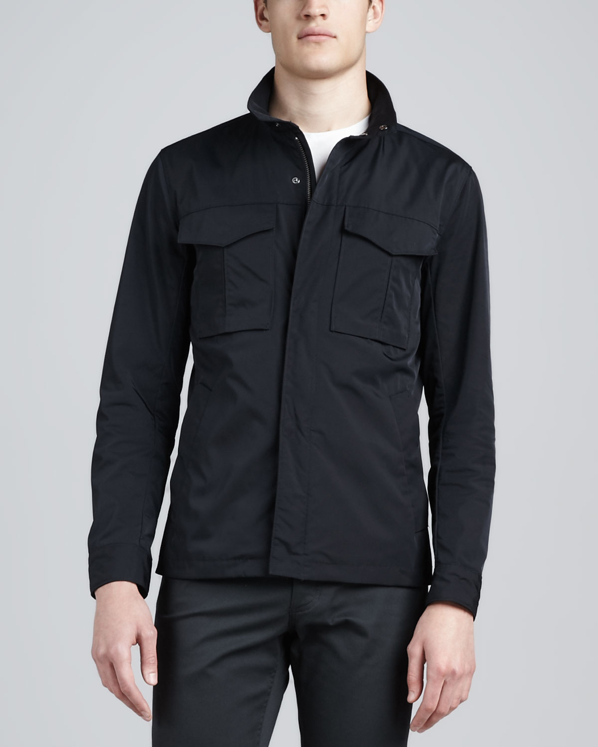 Theory Nylon Utility Jacket In Blue For Men Lyst