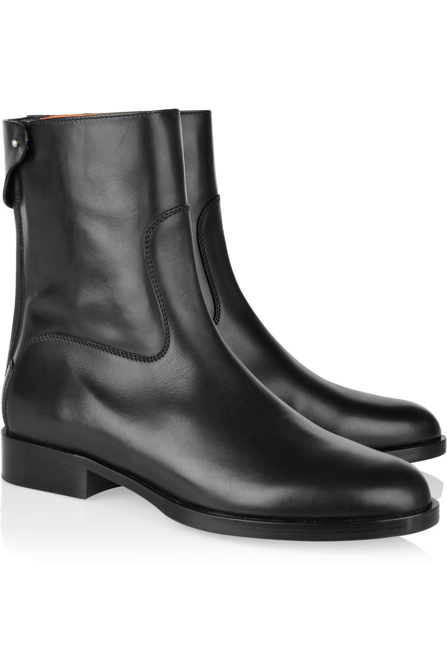 5fc4482edb1 Lyst - Chloé Leather Ankle Boots in Black