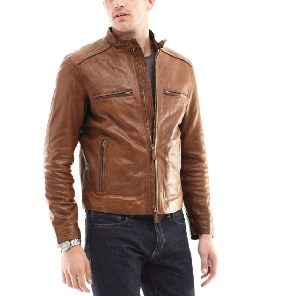 ed09460baf7 ... coupon code for lyst coach bleecker leather racer in brown for men  a3ec2 21389