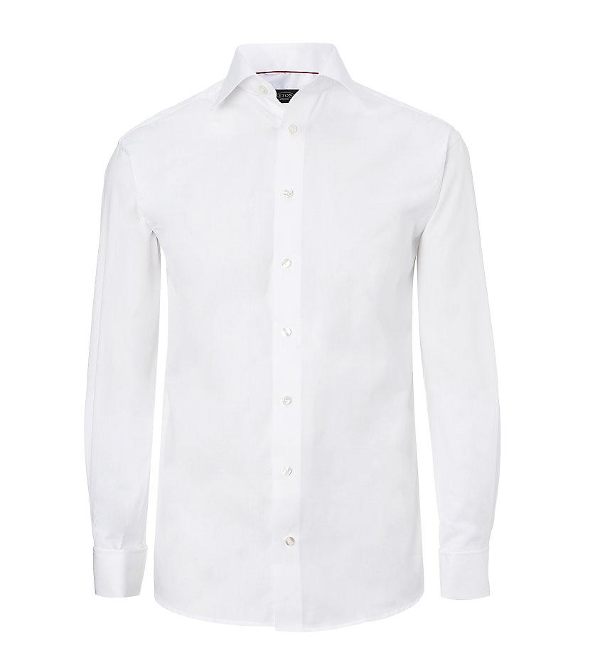 Eton of sweden herringbone shirt in white for men lyst for White herringbone dress shirt