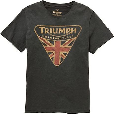 Lucky Brand Triumph Badge Tee In Green For Men 1618 Coal