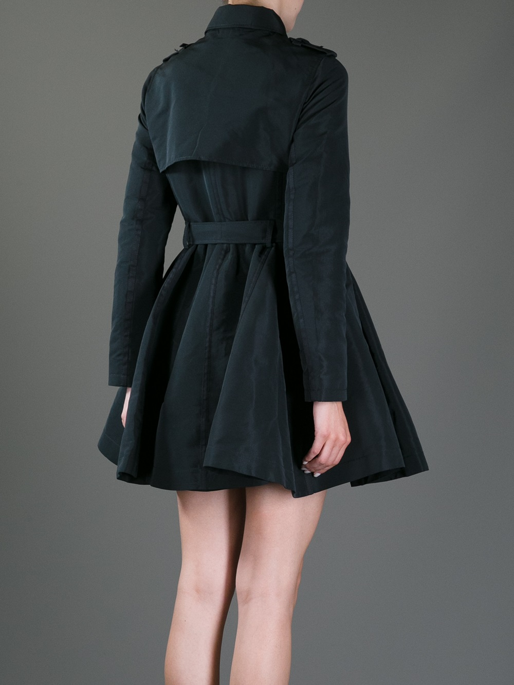 Red Valentino Trench Coat Dress In Gray Lyst