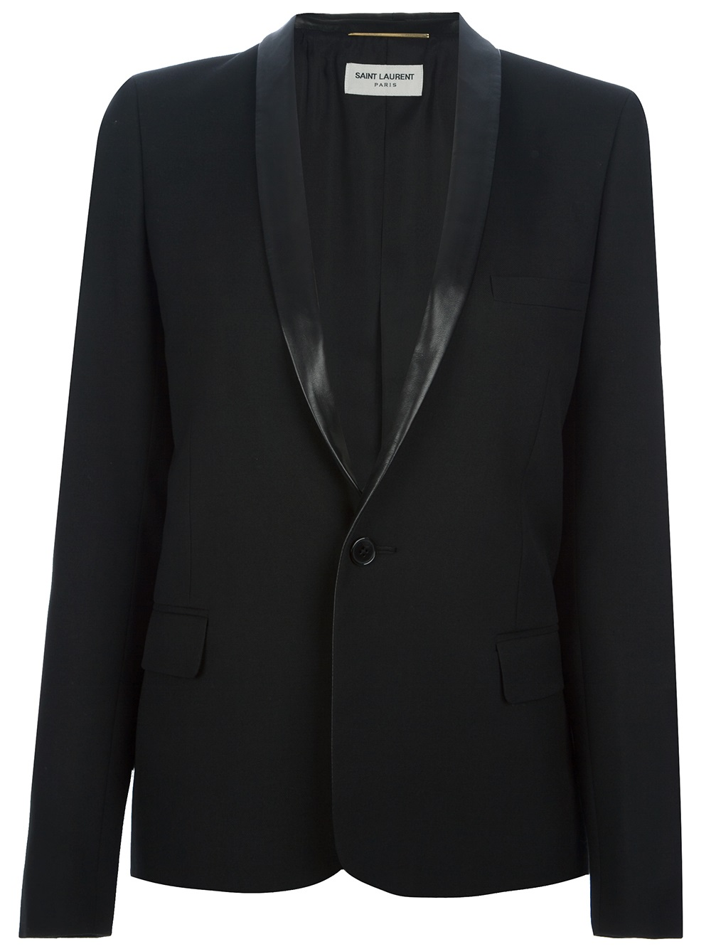 ecru black single women A single-button design adds classic style to your wardrobe in this sleek, curve-skimming blazer that's a versatile pair to complement your look from weekday business meetings to casual weekend outings.