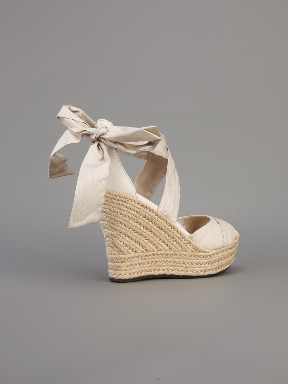 Ugg Lucianna Wedge Sandal In Champagne Metallic Lyst
