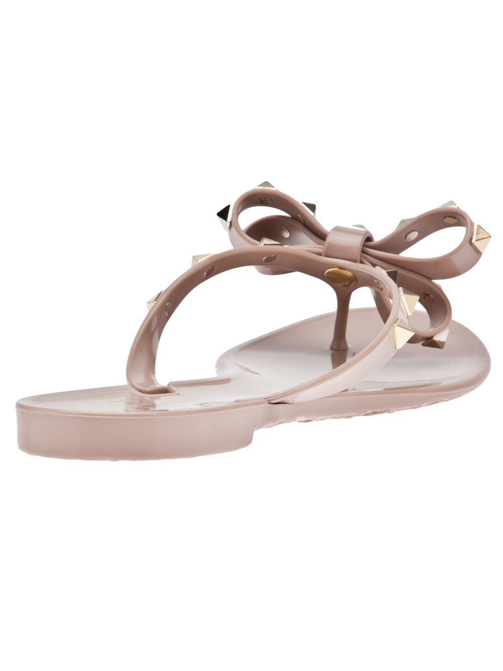 Valentino Rockstud Bow Sandals In Cream Natural - Lyst-9333