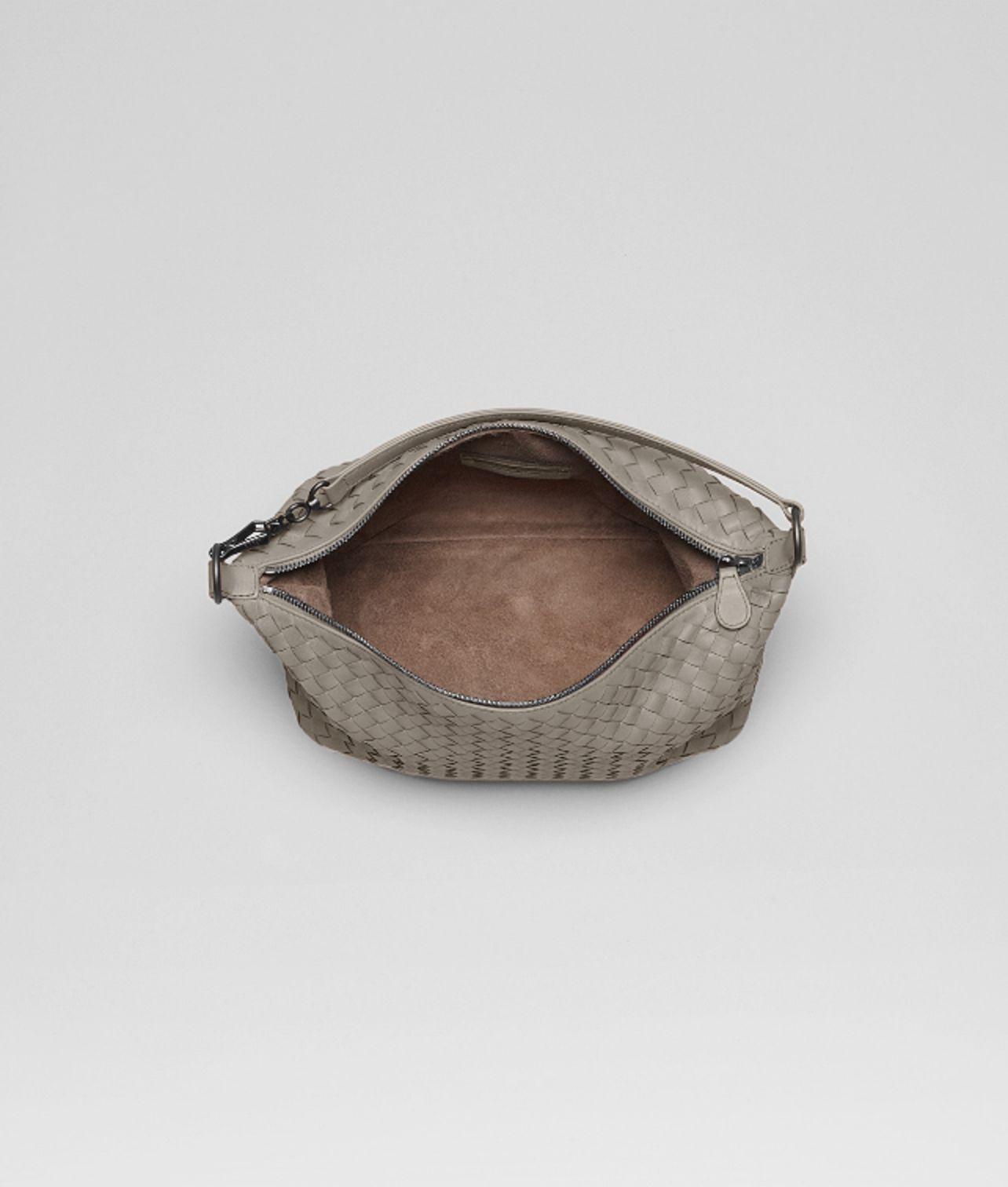 0878c87a135 Bottega Veneta Fume Intrecciato Nappa Bag in Gray - Lyst