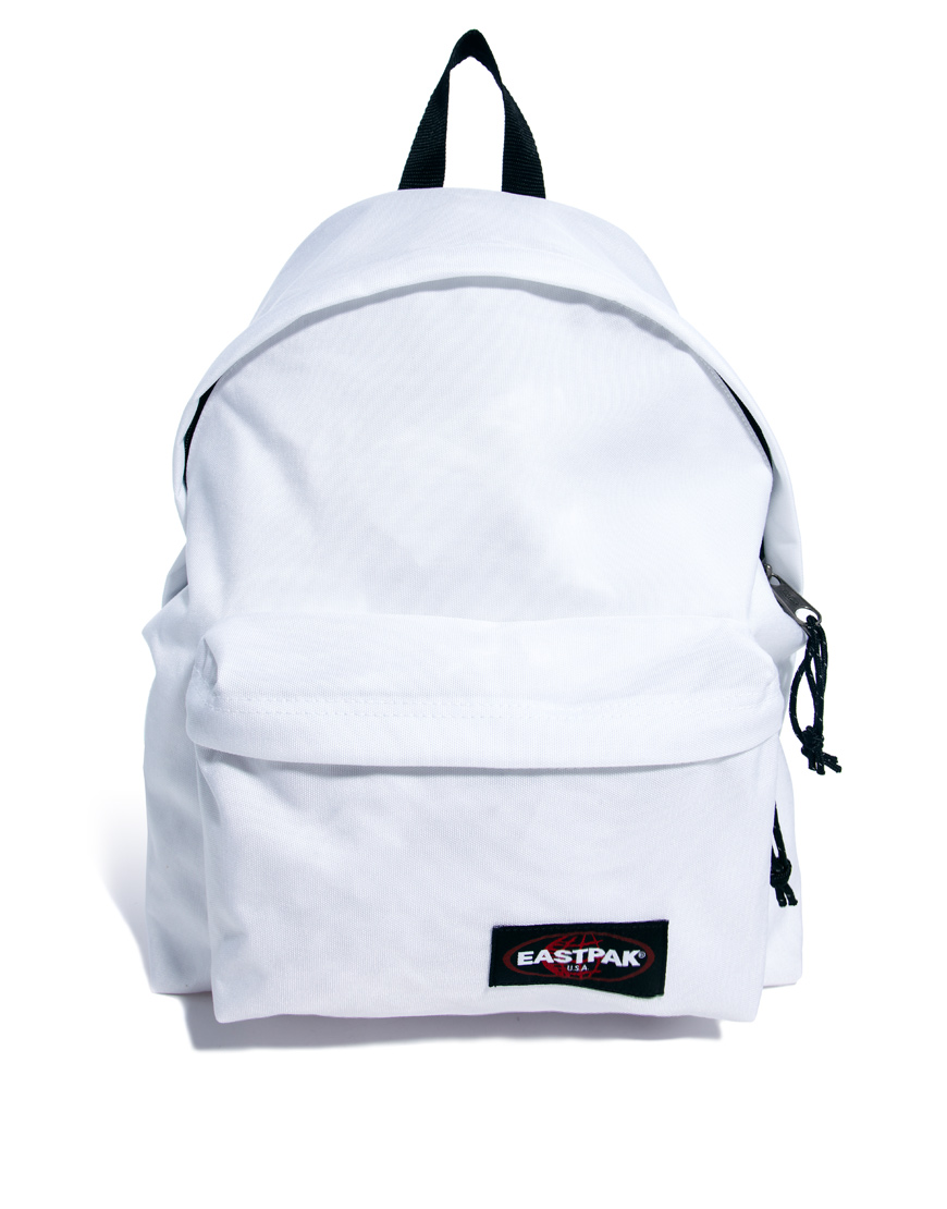white eastpak backpack