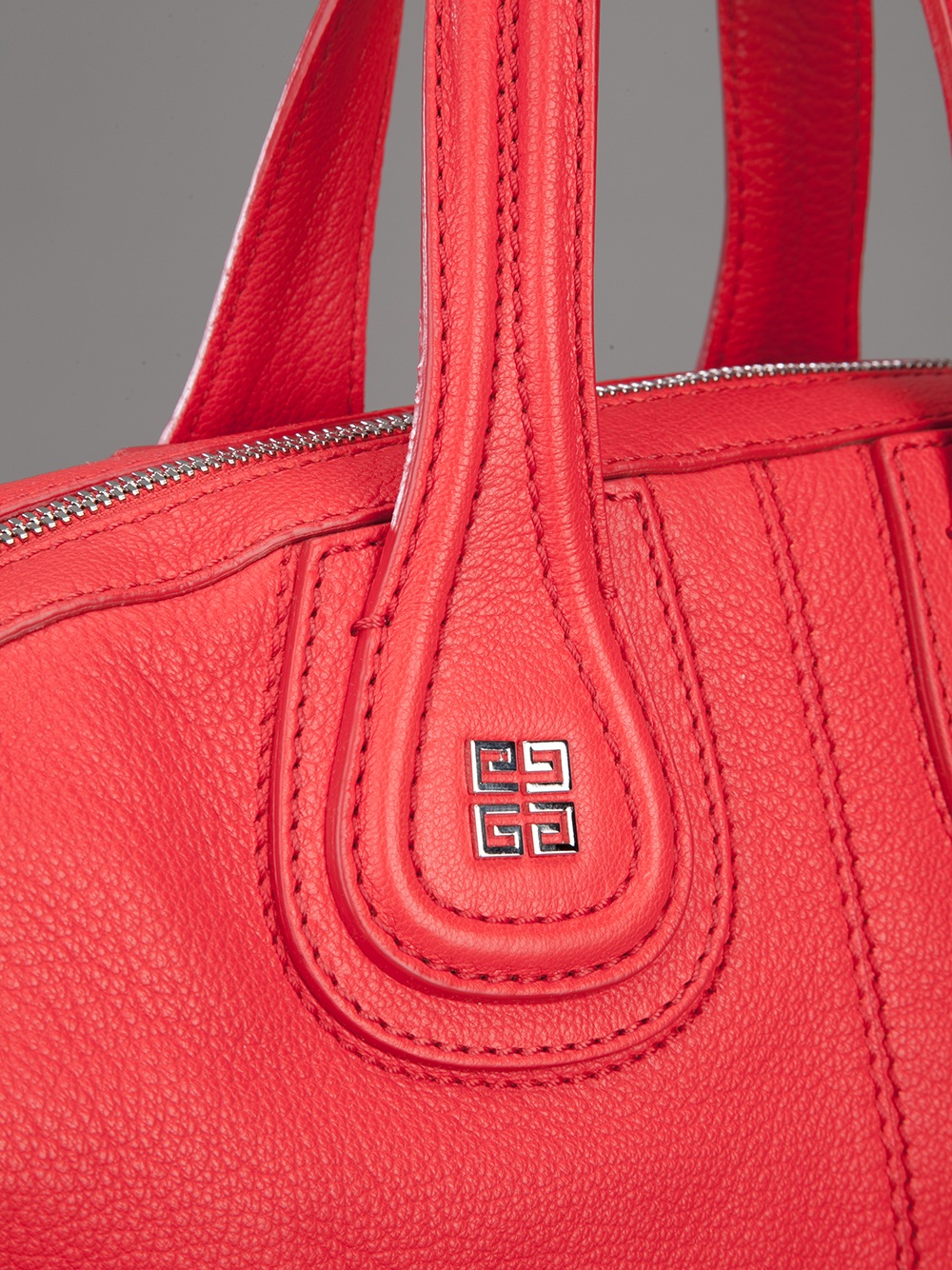 Lyst Givenchy Small Nightingale Tote In Red