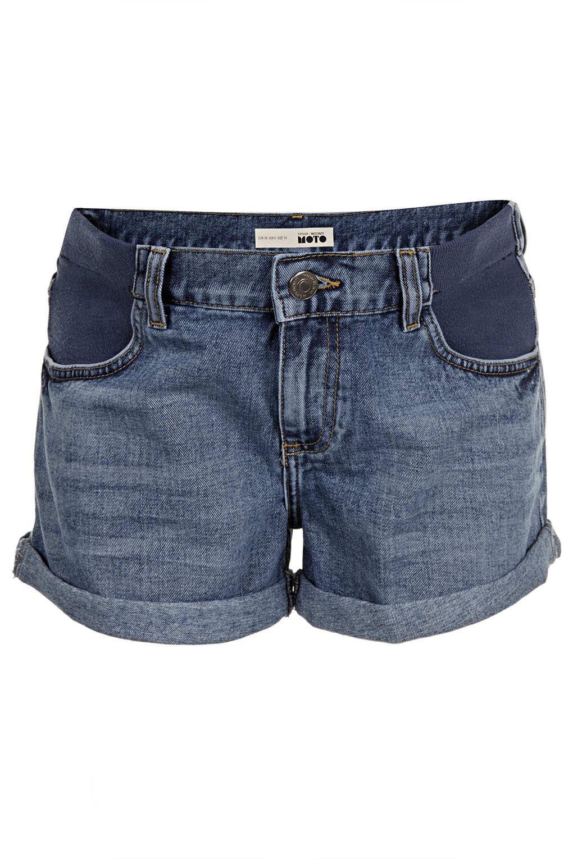 Topshop Maternity Vintage Denim Shorts in Blue   Lyst