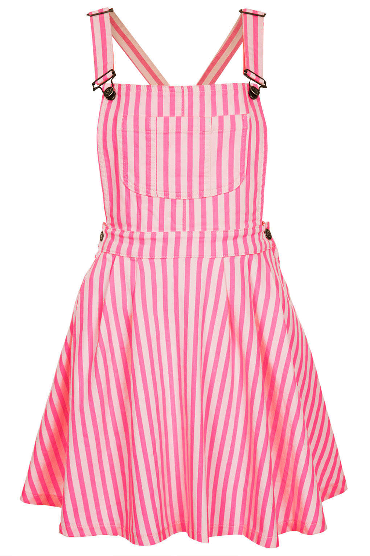 topshop moto pink stripe denim pini in pink lyst