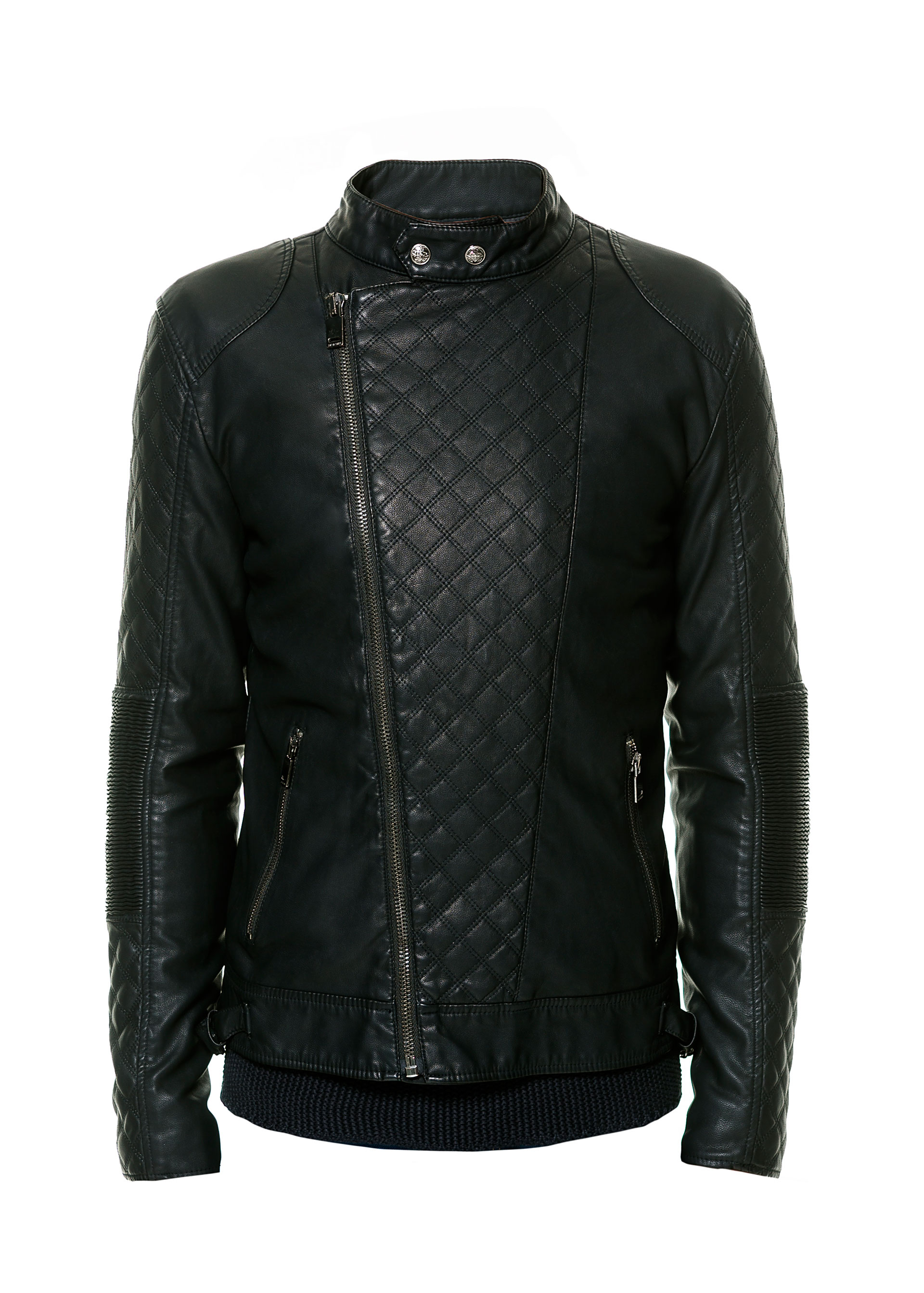 Zara Biker Jacket With Elbow Patches In Black For Men | Lyst