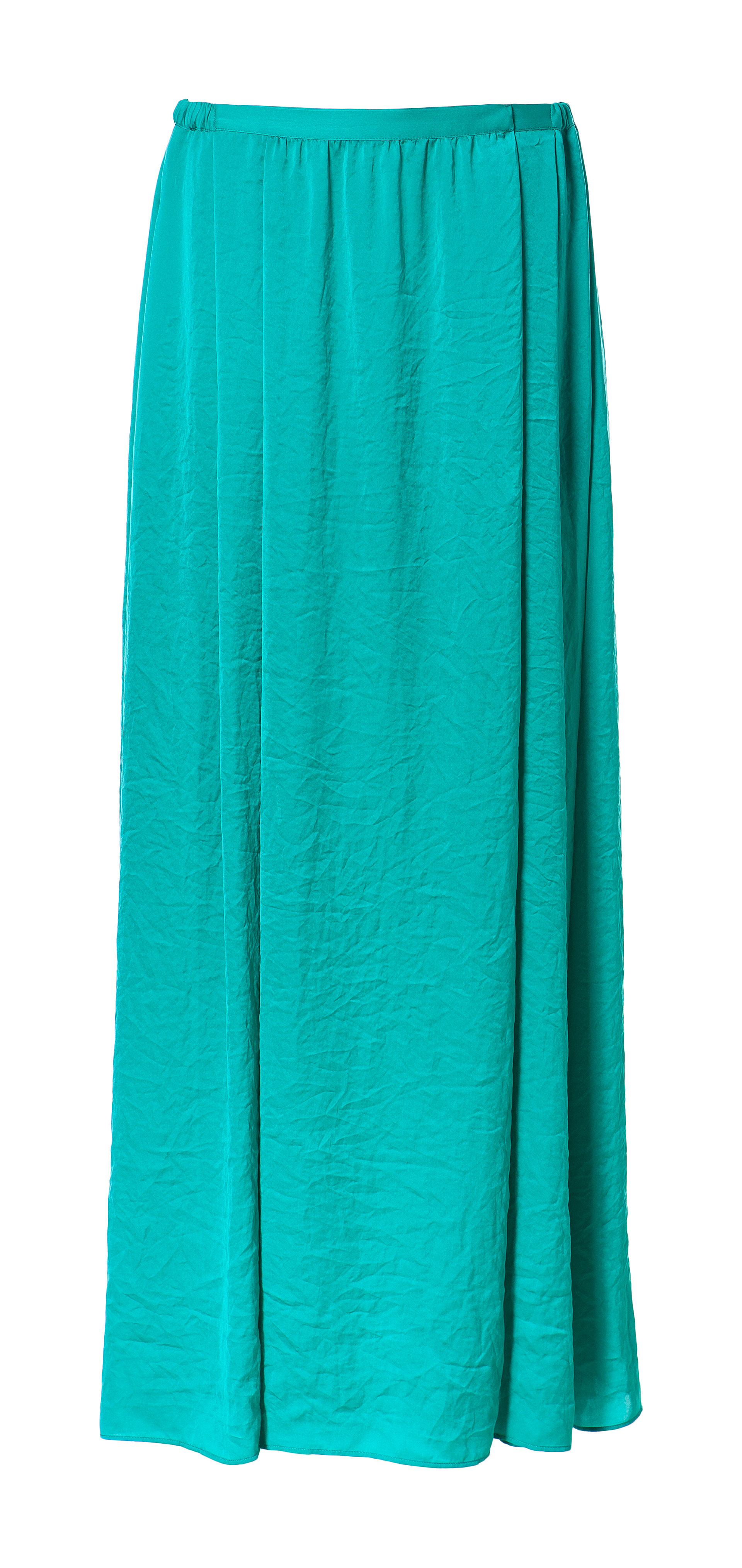 zara silk satin skirt in blue turquoise lyst